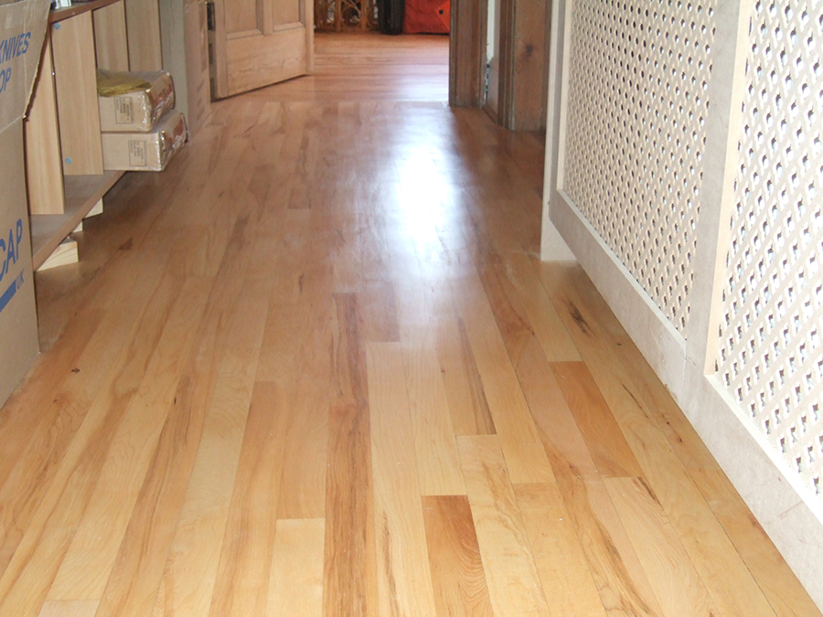 Beech floor varnished