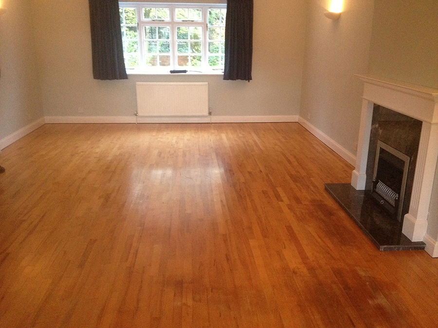 Beech wood floor restored in Worcester