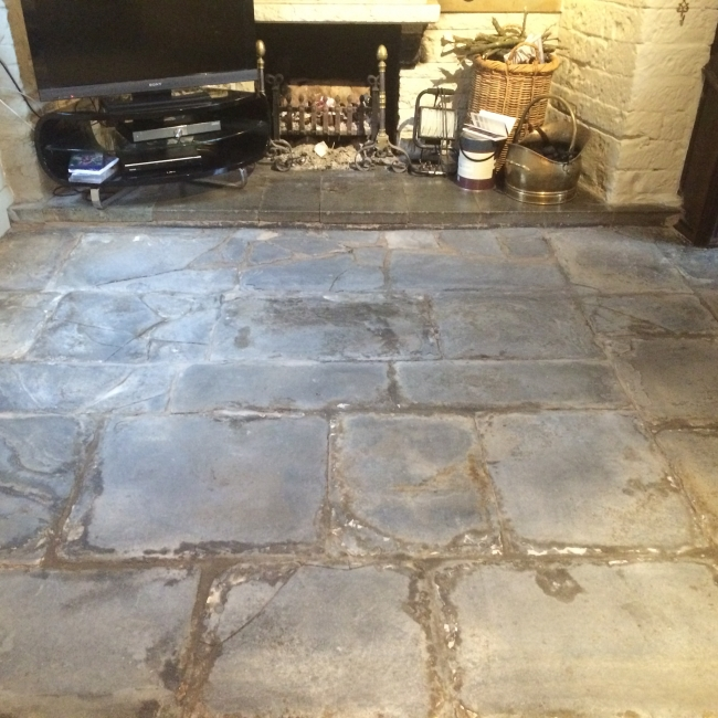 blue lias flagstone floor restoration