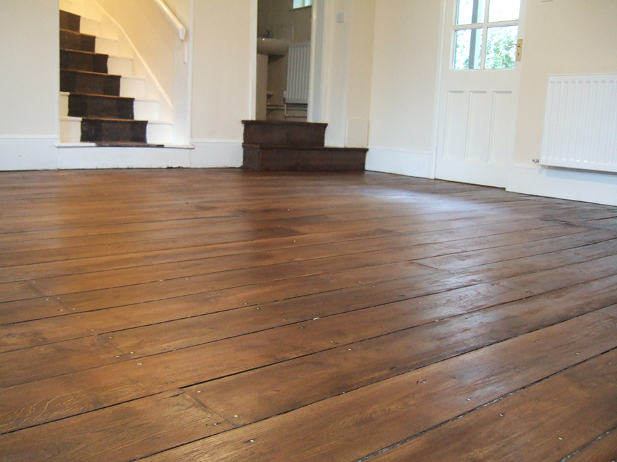 Old elm floor repaired