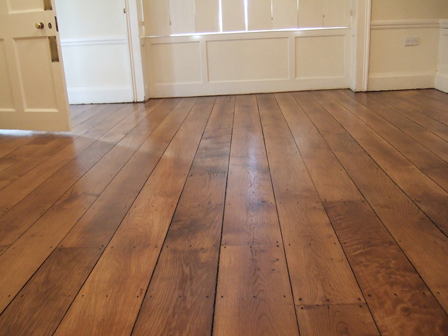 Elm floor restored