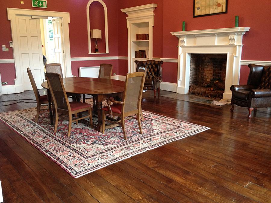 Old elm floor refinished
