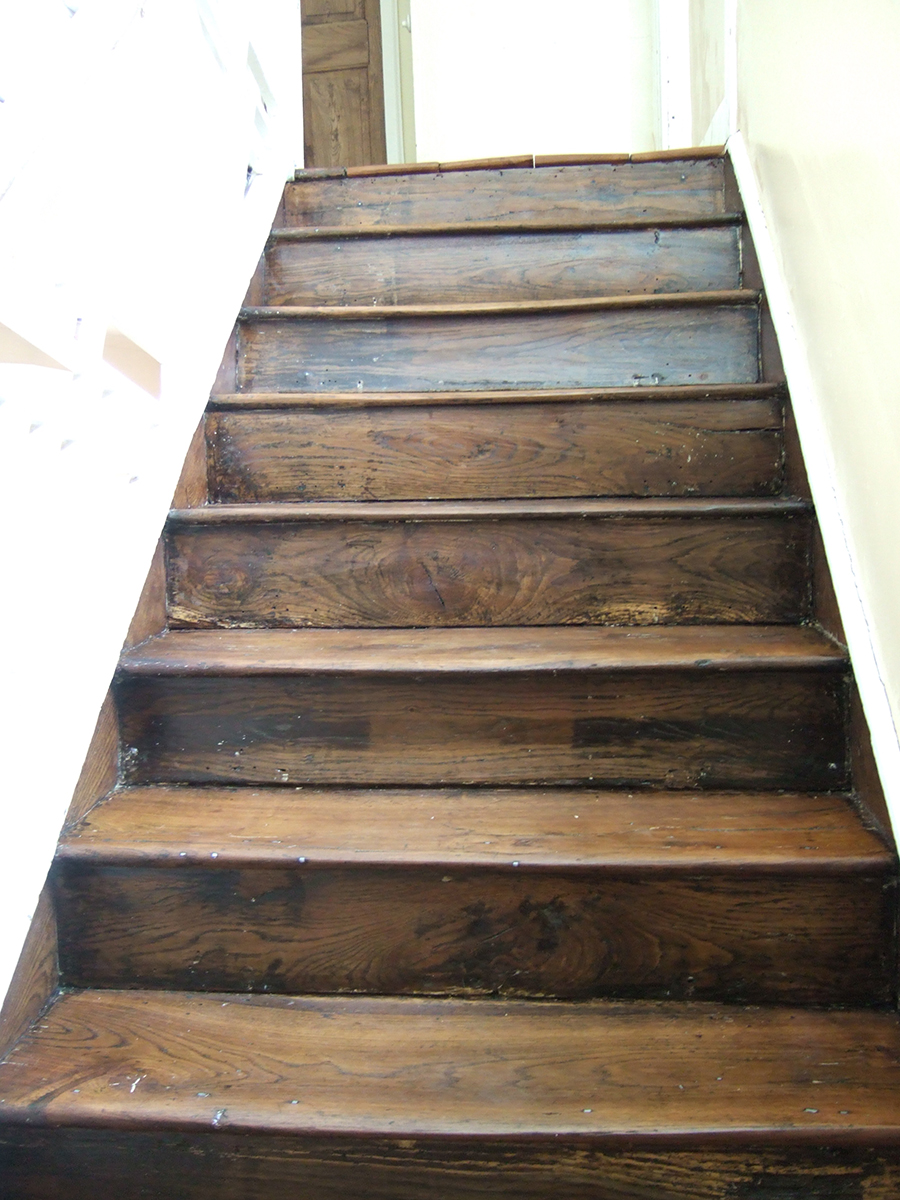 Refurbished elm staircase