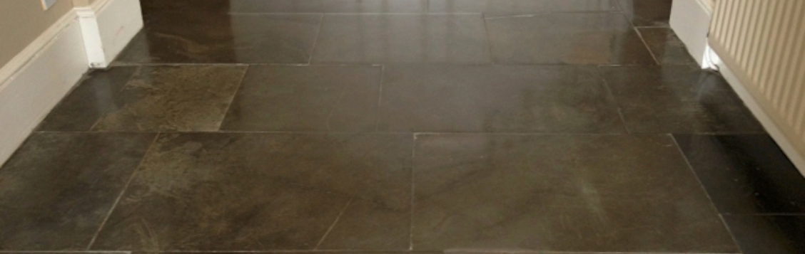 Cleaned and polished flagstone