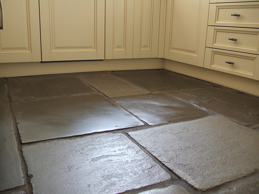 Polished flagstones