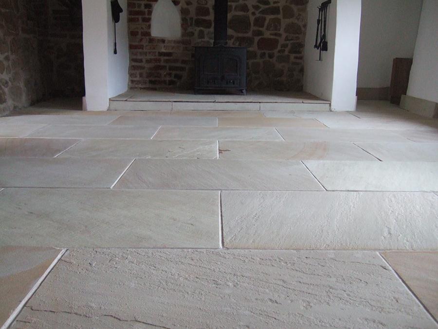 Modern Flagstone floor restoration The Floor Restoration Company
