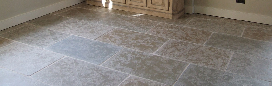 Flagstone floor sealed