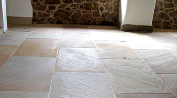 Modern flagstone floors Indian flagstones sealed