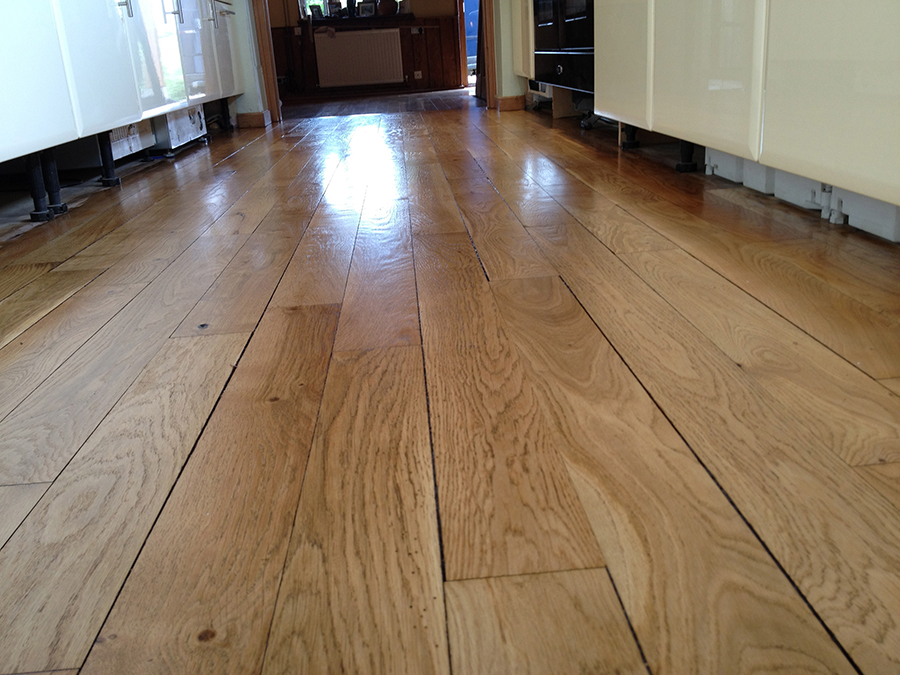 Oak floors sanded and lacquered
