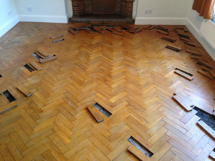 Oak Parquet Floor With Loose Blocks