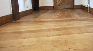 Old oak floor restored