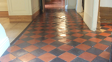 Example photo of a Victorian red and black restored floor.