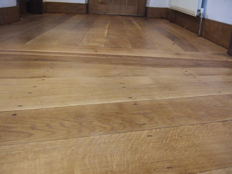 Oak floor sanded and finished