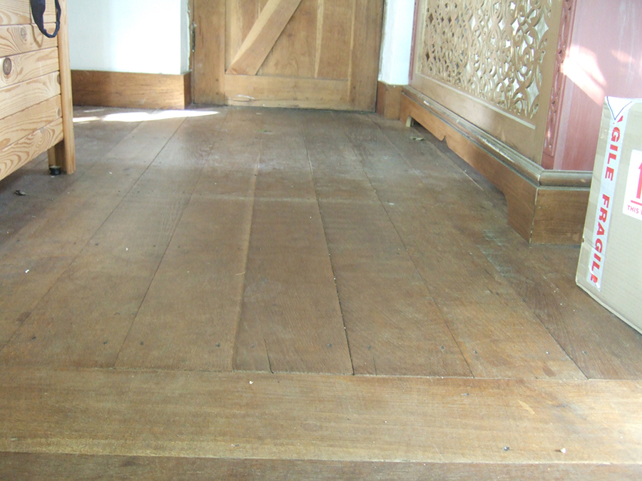 Old oak floors sanded and oiled