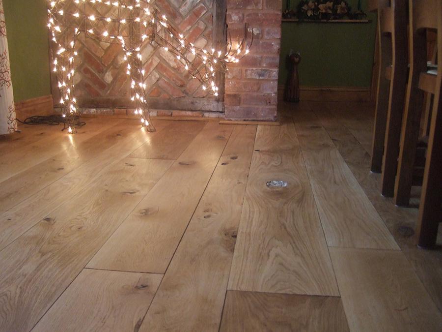 Sanded and gap filled oak floor in Malvern