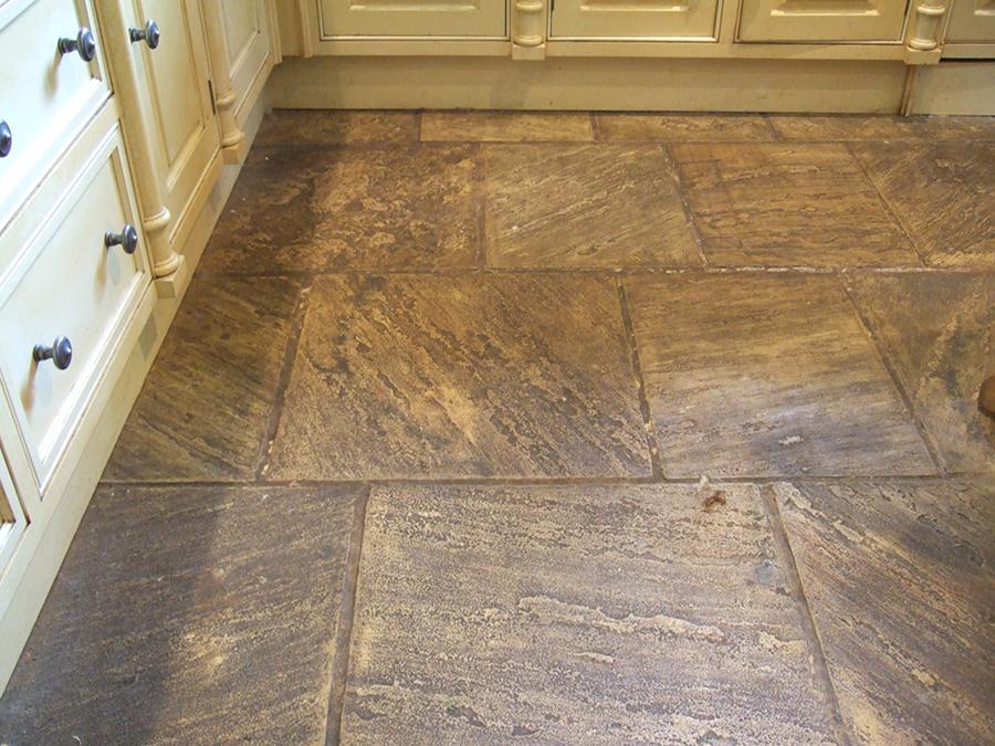 Pyrolusite stone floor