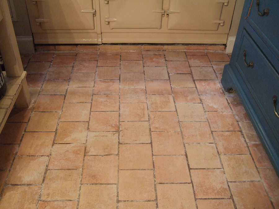 Problems cleaning a terracotta floor