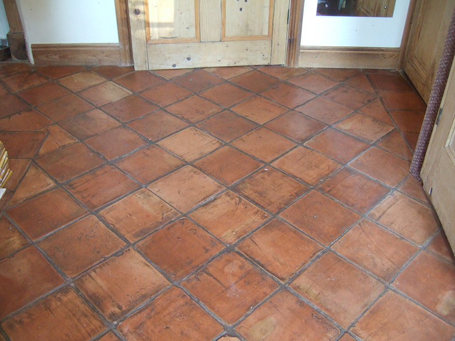 Terracotta stained grout