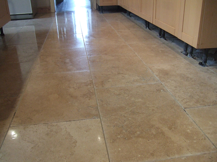 Travertine tiles stone polished