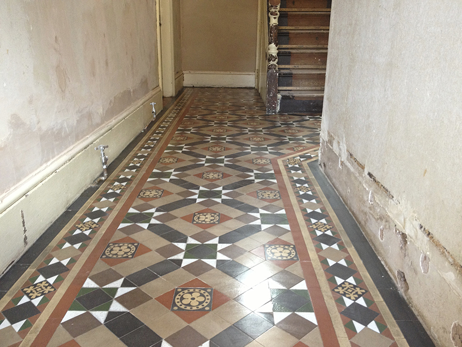Victorian tiles polished
