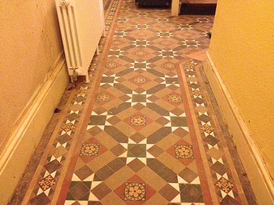 Victorian Hallway Tiles >> Victorian Geometric tile restoration | The Floor Restoration Company
