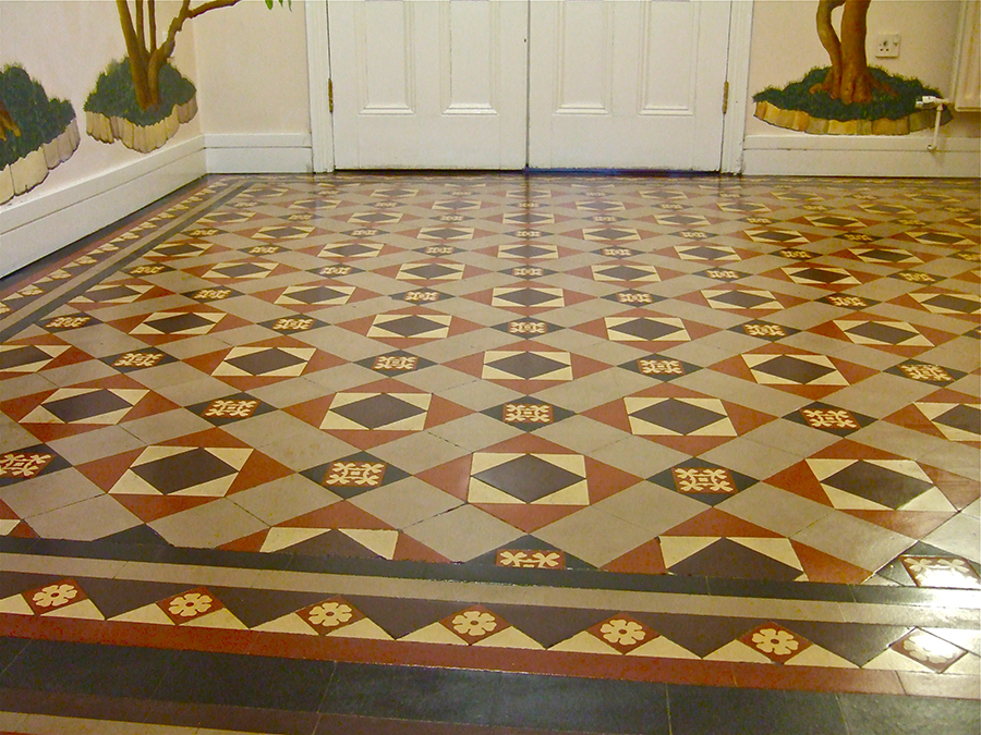 Victorian Geometric Tile Restoration The Floor