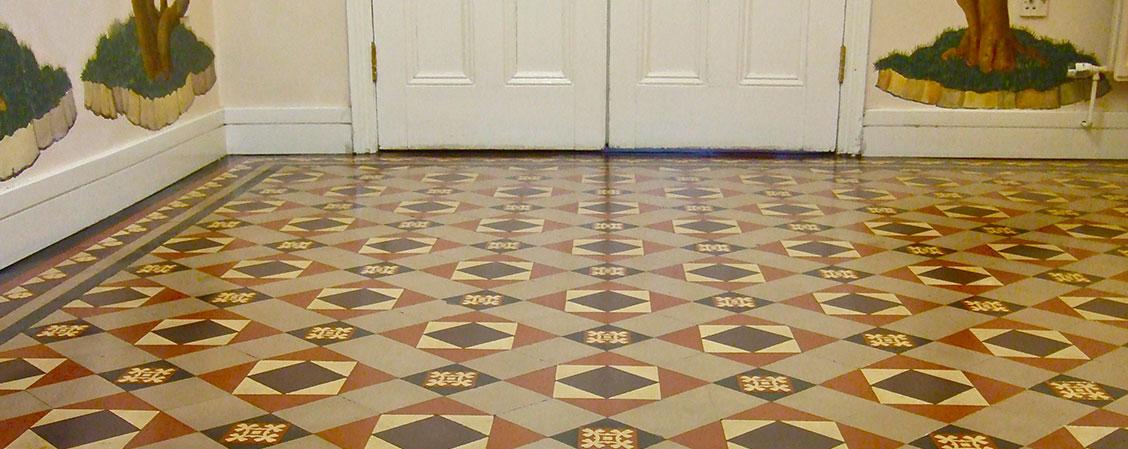 Victorian Geometric Tile Restoration The Floor Restoration Company