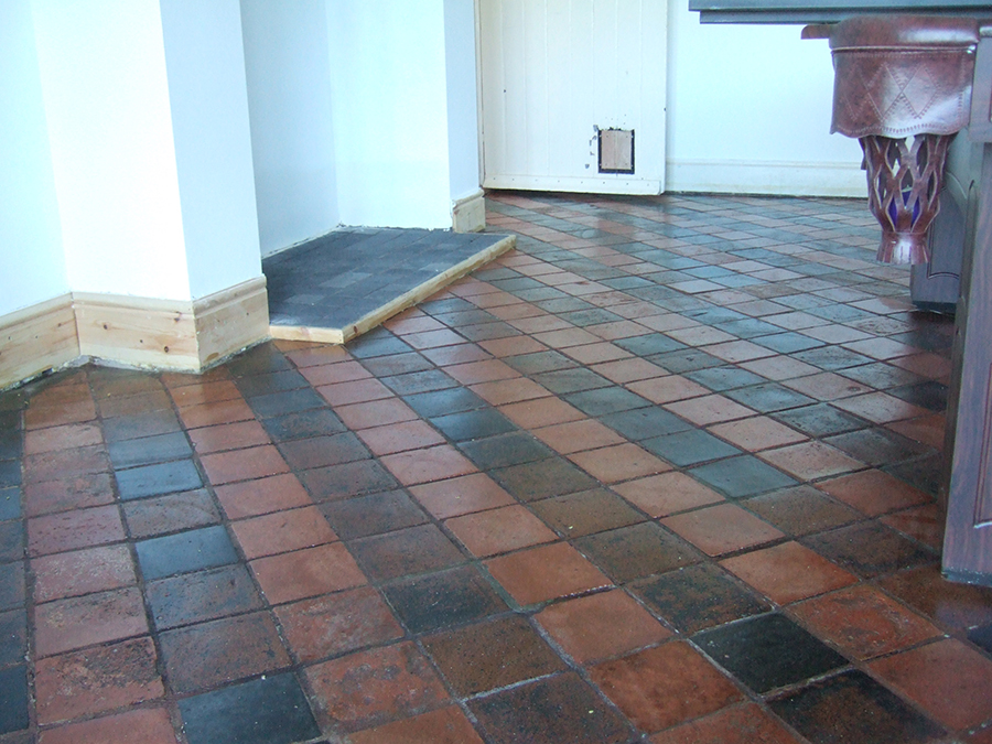 Victorian tiles treated for salts