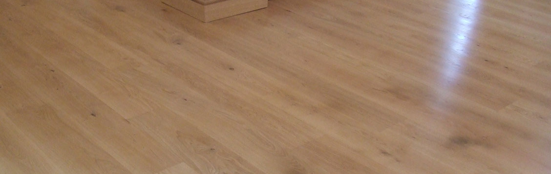 New oak floor laid