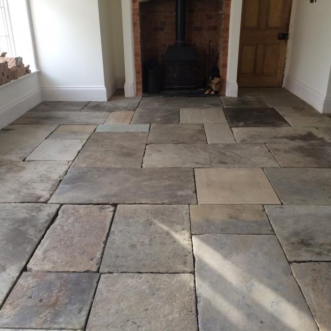 york flagstone floor polishing and grouting