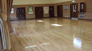Hall floor sanding